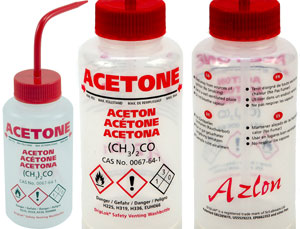 GHS Acetone Wash Bottle