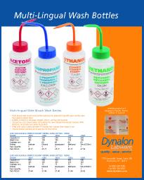 GHS Compliant Multi-Lingual Wash Bottles