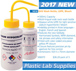New Plastic Lab Supplies
