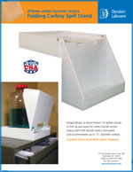 107374 Folding Spill Tray Sales Sheet Literature