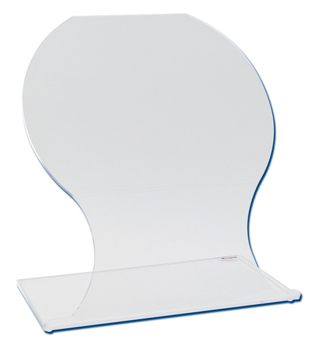 Bent and formed acrylic beta protection shield