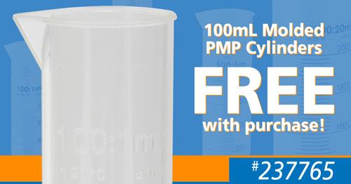 FREE 100mL Plastic Graduated Cylinder