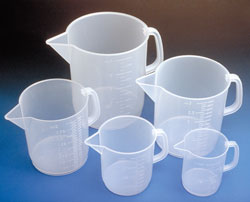 Low Form beakers with handle