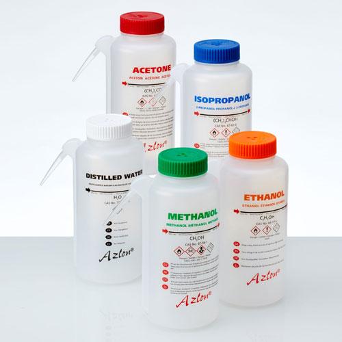 Azlon GHS INtegral Wash Bottles