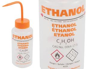 Ethanol GHS Wash Bottle