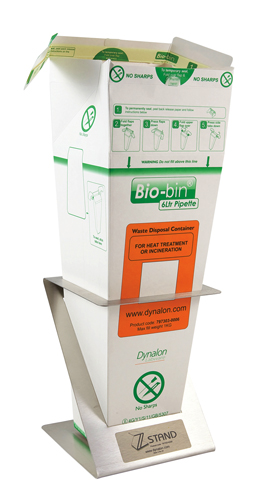 6L Pipette Bio-bin in Z stand
