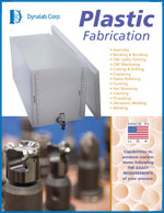 Plastic Fabrication Sales Sheet Literature