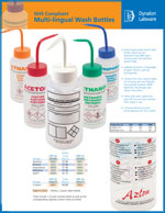 GHS Wash Bottles Sales Sheet Literature