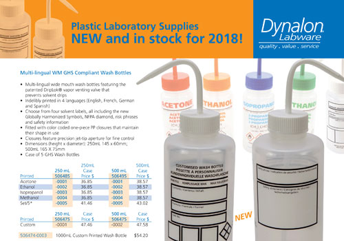 New Lab Supplies in 2018
