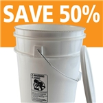 5 Gallon Plastic Pail With Handle