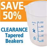 Clearance Price Azlon Tapered Beakers