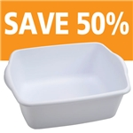 White Plastic Utility Bin