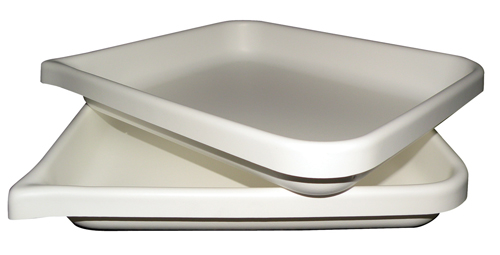 White Plastic Flat Bottom Tray