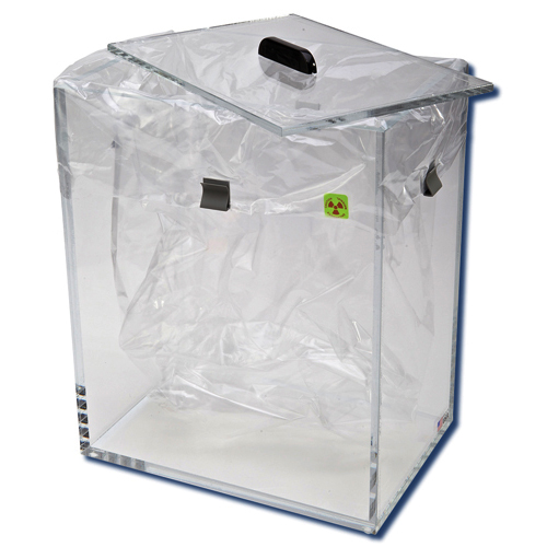 172125 Beta Radiation Protection Floor Bin with Lid