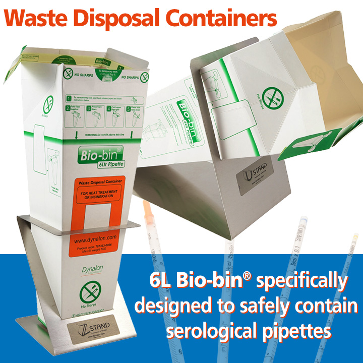 6l bio bin waste disposal container pipette bio bin for Decor 6l container