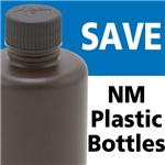 Azlon HDPE NM 250mL Amber Bottles - OVERSTOCK