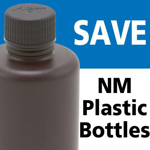 Azlon HDPE NM 250mL Amber Bottles - OVERSTOCK