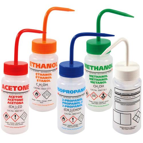 Ghs Wash Bottle Plastic Multilingual Wash Bottle Dynalon