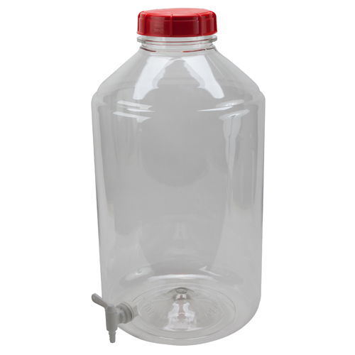 PET Clear Carboy with Spigot, 6 Gallon