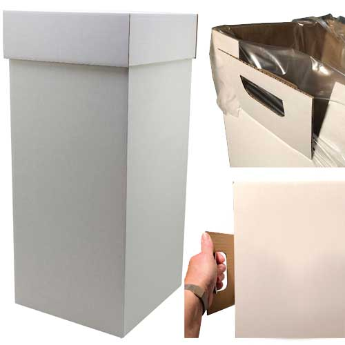 797125 Plain Disposal Box with Handles and Hole