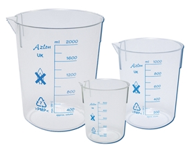 Azlon Tapered Plastic Beakers